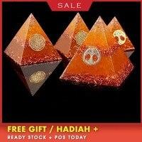 AURAREIKI Orgonite Horus Augen Olympia Pyramid Energy Generator Jucai Cleopatra Transit Resin Decorative Craft Jewelry Gift
