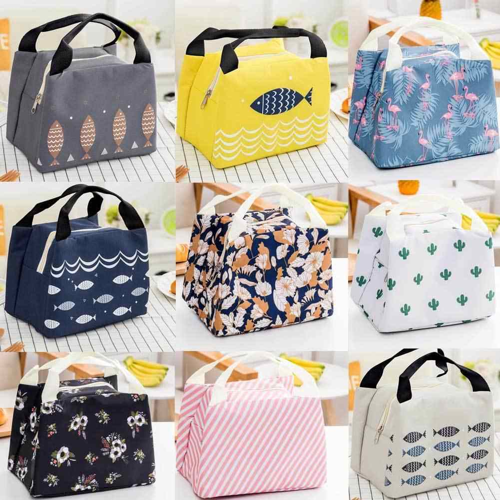 New Food Storage Bags Portable Insulated Thermal Cooler Bento Lunch Box Tote Picnic Storage Bag Pouch Lunch Bags
