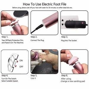 Image 5 - Electric Pedicure Tools Foot Care File Leg Heels Remove Dead Skin Callus Remover Feet Clean Care Machine & Replacement Sandpaper