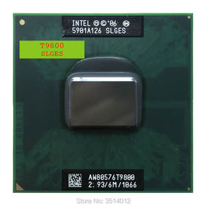 CPU Intel-Core Processor-6m T9800 Socket-P Dual-Thread Ghz 35W 2-Duo SLGES