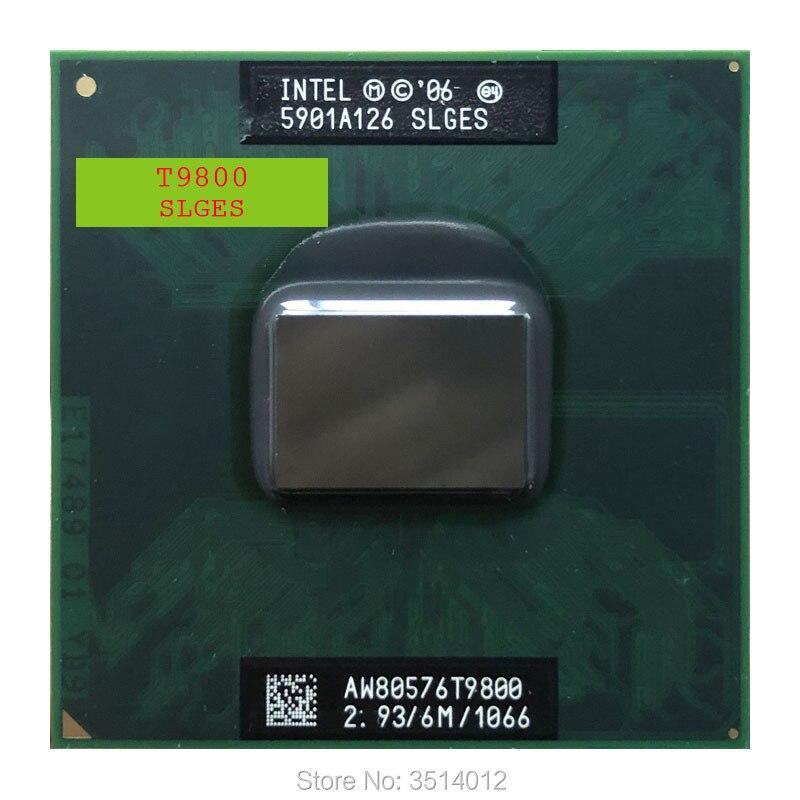 Intel core 2 duo t9800 slges 2.9 ghz duplo núcleo processador cpu de dupla rosca 6 m 35 w soquete p|CPUs|   -