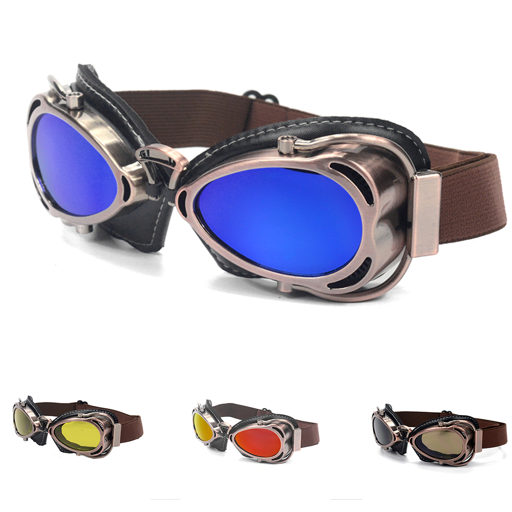 evomosa Universal Goggles For Motorcycle Riding Racing Cycling Scooter Chopper Cruiser Cafe Racer Helmet Goggles Sunglasses New