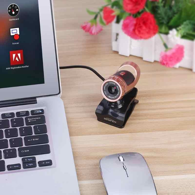 USB высокой четкости веб-камера с микрофоном Clip-on 360 градусов для ноутбука Настольный ПК компьютер
