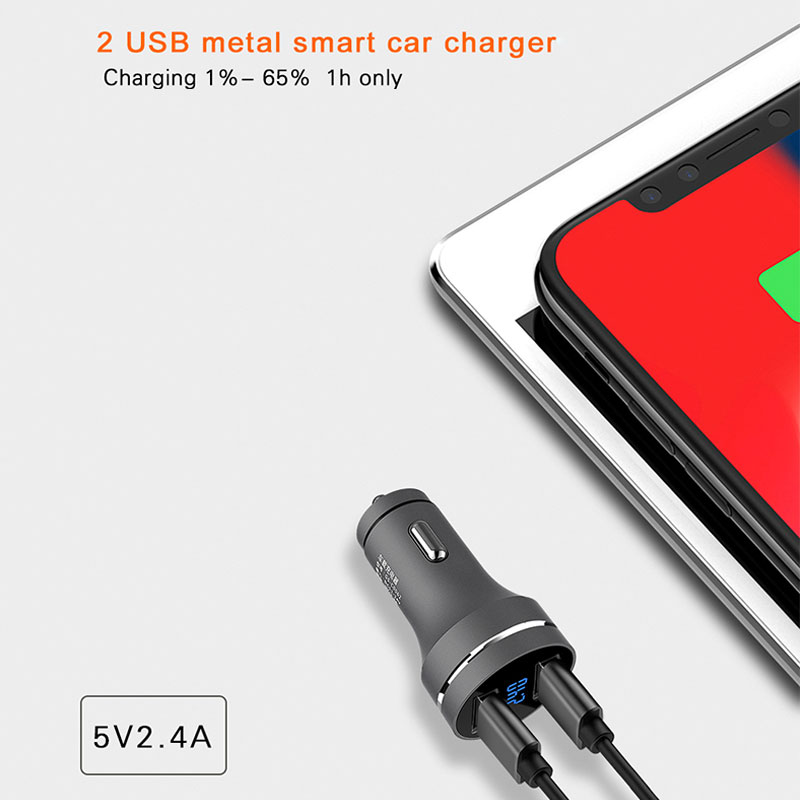 YWEWBJH Universal Fast Dual USB Car Charger Adapter 5V 3 1A Auto ABS USB Car Phone Charger for iPhone Mobile Phone in Car Chargers from Cellphones Telecommunications