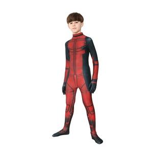 Image 5 - Bambino Ragazzi Deluxe Deadpool Attillato Spandex Zentai Suit Bambini Costume di Halloween Cosplay