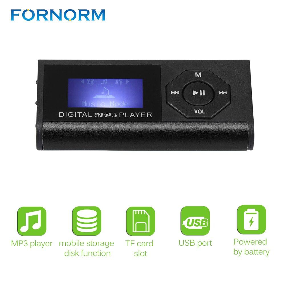 Fornorm Tragbare Mp3 Player Mit Kopfhörer Digitale Kompakte Und Max 3,7 V Unterstützung 16 Gb Micro Sd Karte 1,8 Zoll Display Musik Player Hifi-geräte Unterhaltungselektronik
