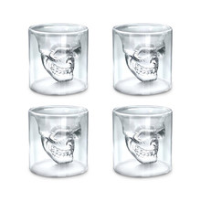 3 Sizes Skull Head Wine Glass Mug Crystal Beer Whiskey Shot Double Glass Cup Vodka Drinking Bar Club Beer Wine Glass Bottle S3(China)