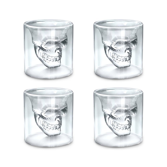 Crystal Skull Head Shaped Glass
