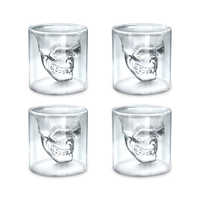 3 Sizes Skull Head Wine Glass Mug Crystal Beer Whiskey Shot Double Glass Cup Vodka Drinking Bar Club Beer Wine Glass Bottle S3