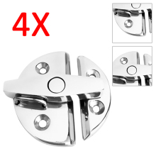 4pcs Catch Latch Exterior Cabinetry Round Access Doors Hatches Center Console H1