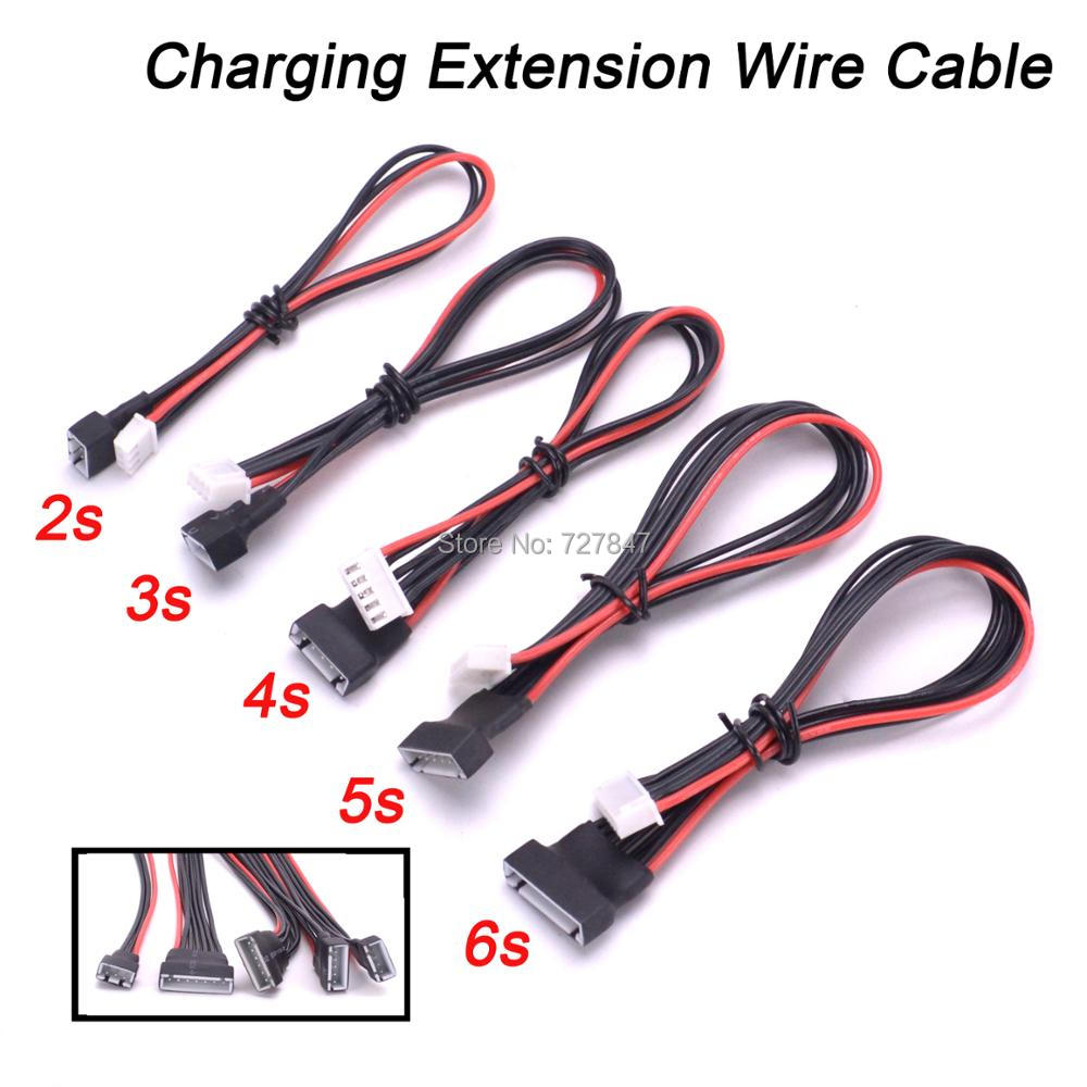 5pcs/lot JST-XH Li-Po Battery Balance Charging Extension <font><b>Wire</b></font> Cable 20cm 22AWG <font><b>2S</b></font> 3S 4S 5S 6S For RC Lipo image