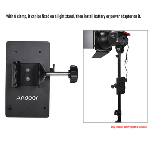 Image 2 - Andoer V Mount V Lock Battery Plate Power Supply Adapter System D tap Connector W/ Clamp for Sony Camera BP Battery