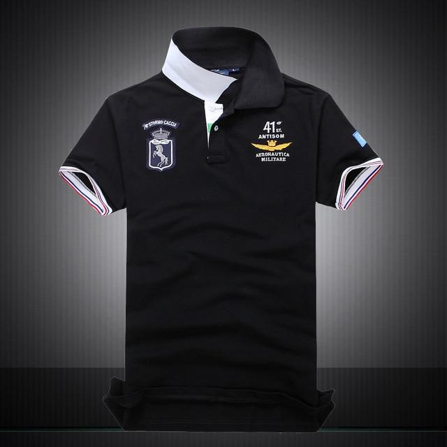 685188b940e 2018 New Cotton AERONAUTICA MILITARE Air Force One polo shirt Embroidery  Aeronautica