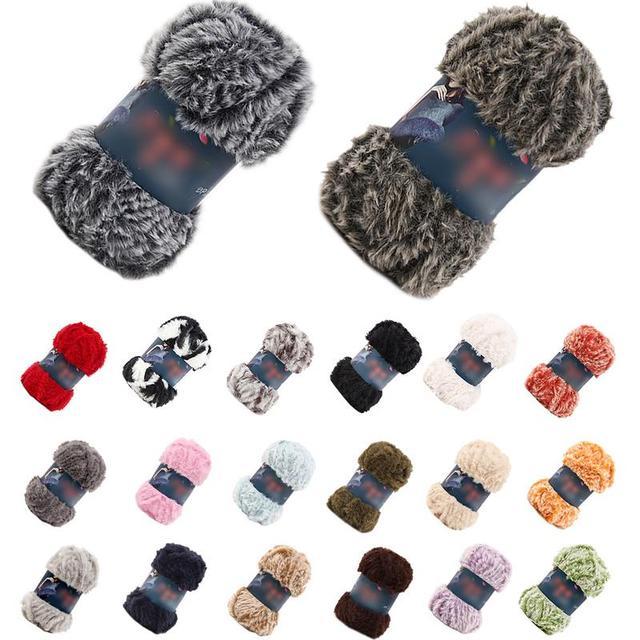 Gamuza de piel imitación visón lana pluma Hilo de lana de visón lana larga  hilo hecho 67448a5a420