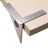 Stainless Steel Woodworking Ruler Square Layout Miter Triangle Rafter 45 Degree 90 Degree Metric Gauge