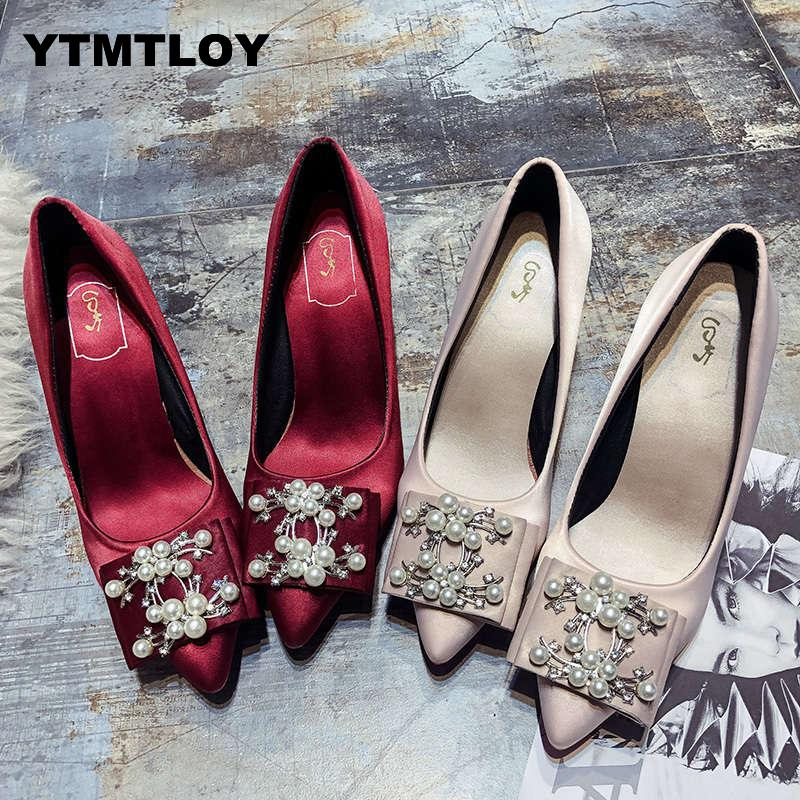 Heels Shoes Women Pumps Solid Elegant High Heels Fashion Wedding Shoes Famale Women Heel Shoes High  Sexy High Heels Bridal T6
