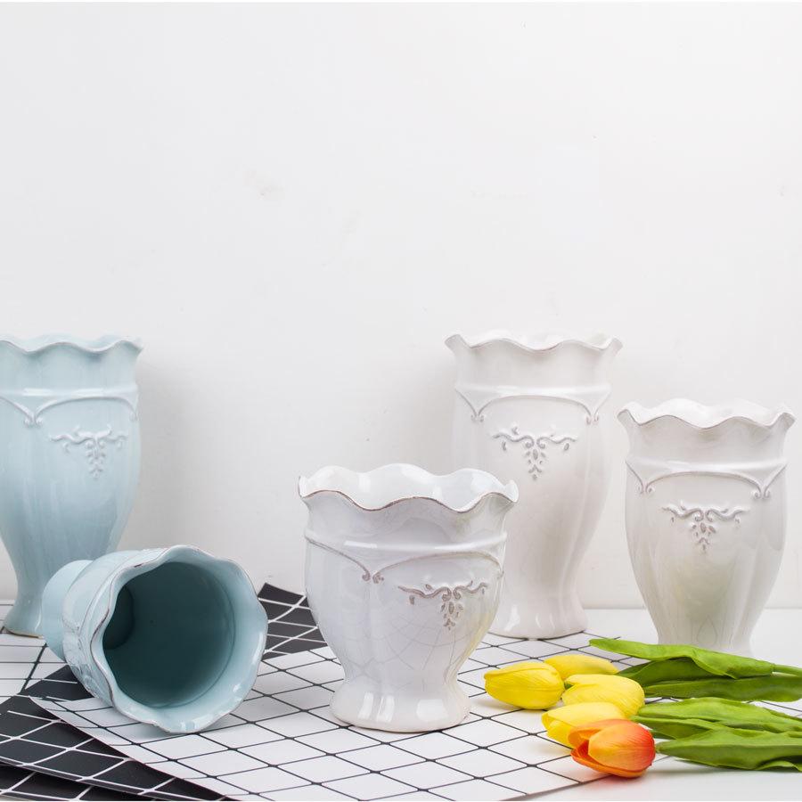 o tema Mediterran vaso de flores de cerâmica vasos decorativos - Decoração de casa - Foto 2