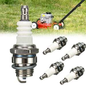 Drillpro 1/5PC 55x22mm Lawn Mower Spark Plug Rep RJ19LM BR2LM For Briggs & Stratton Motors(China)