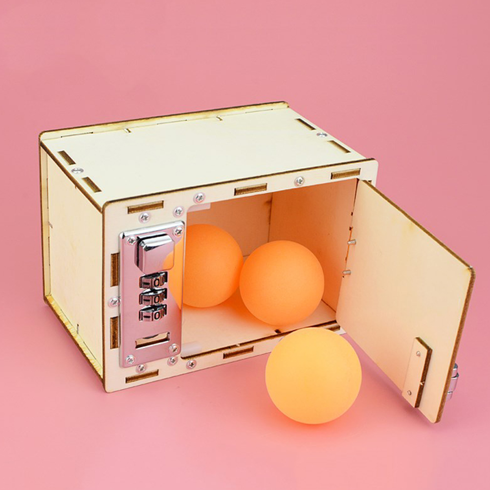 1pc Password Box Mechanical Handmade Technological Scientific Plastic Password Box Toy For Children DIY Playing Toy