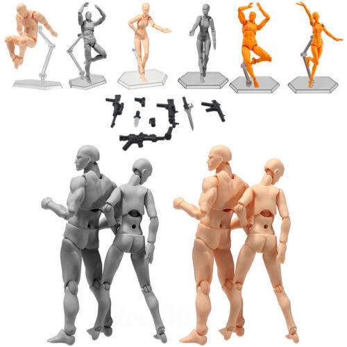 Male Female PVC Action Figma Archetype Figure Body Toy Art Anime Model ToyMale Female PVC Action Figma Archetype Figure Body Toy Art Anime Model Toy