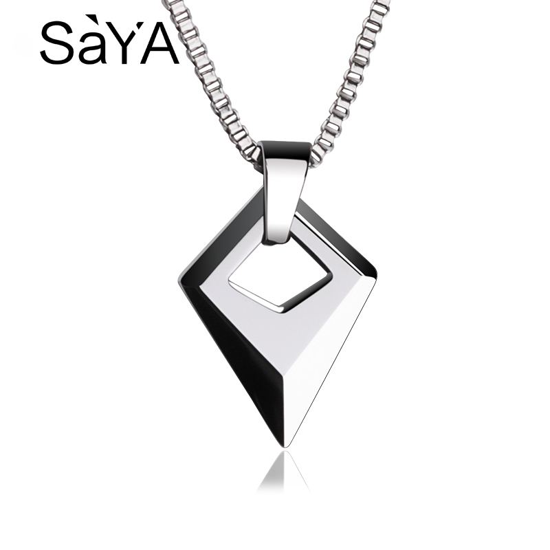 Hot Selling Man Jewelry High Polished Tungsten Carbide Pendants With 2.0 Titanium Steel Necklace 50cm Length Male PendantHot Selling Man Jewelry High Polished Tungsten Carbide Pendants With 2.0 Titanium Steel Necklace 50cm Length Male Pendant