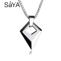 Hot Selling Man Jewelry High Polished Tungsten Carbide Pendants With 2.0 Titanium Steel Necklace 50cm Length Male Pendant