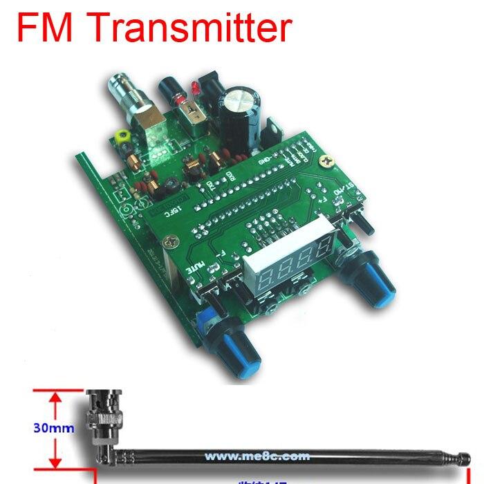 dc 12V 88 108MHZ 0.5W BH1415F FM Radio PLL Stereo FM Transmitter digital display LED Module + 75cm Q9 Antenna audio signals