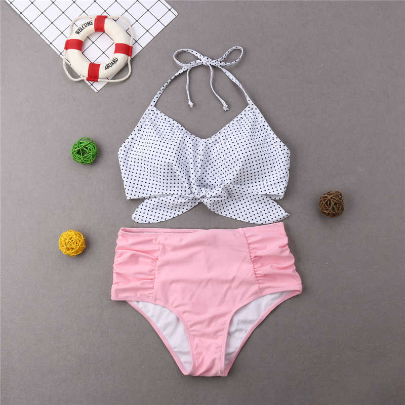 Traje de baño mamá e hija conjunto de Bikini padre e hijo conjuntos a juego mujer traje de baño Niña traje de baño trajes de juego para la familia