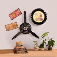 Industrial Air Plane Propeller Metal Wall Clock Mute and HD display Aeroplane Retro Ornament Decor