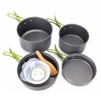 2 3 people Portable Camping Outdoor Camping Cookware Pot Set Picnic Hiking Travel Cooking Equipment