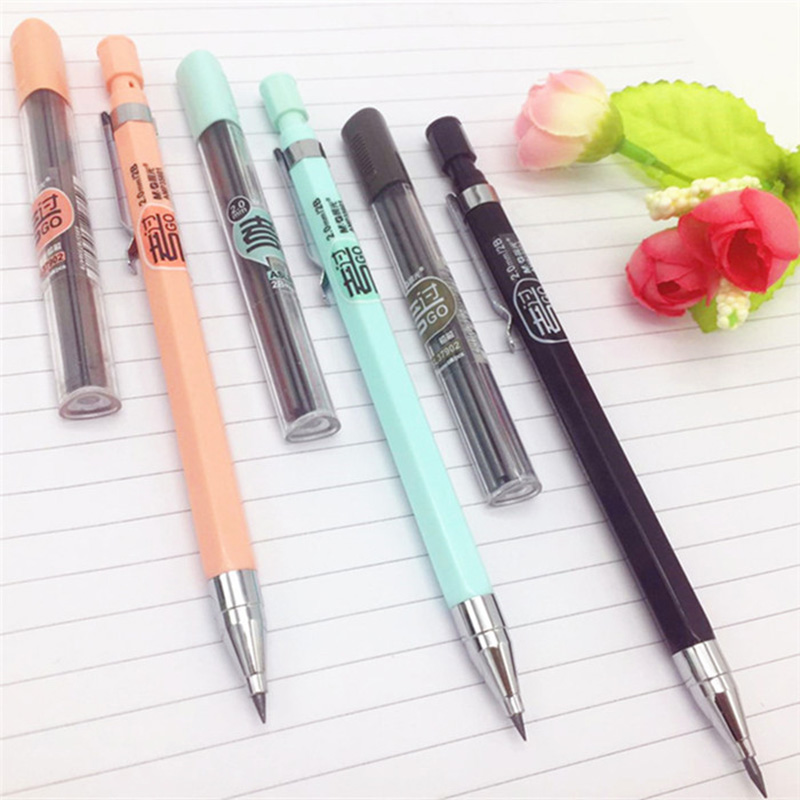 1 PC Creative Candy Color Mechanical Pencil 2.0mm Kawaii Pencils For Writing Kids Girls Gift School Supplies Korean Stationery image