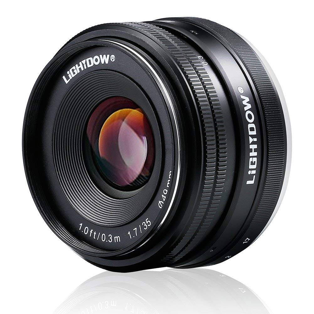 Lightdow 35 Mm F1.7-22 e-mount aps-c objectif fixe pour Sony Alpha A6000 A6300 A6500 A5100 A5000 appareil photo reflex numérique sans miroir