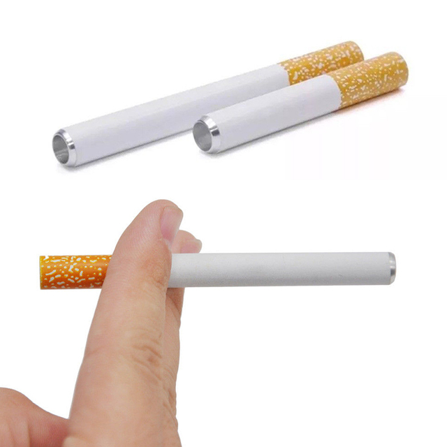 Sale 1pc New 2020 Cigarette Shape metal pipe smoking pipe accessories Tobacco pipe filter Portable Pipe