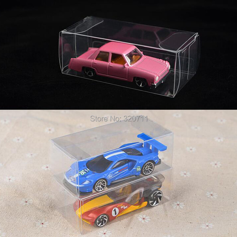 50PCS Protective Clear Plastic Case for Hot Wheels Matchbox TOMICA Display Box