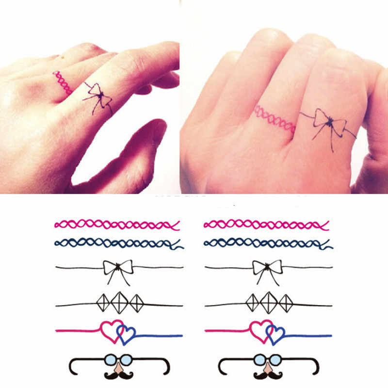 2018 NEW Women's 3D Cute Temporary Tattoo Sticker Waterproof Decals Fake tatoo Art Taty Bow finger tattoo Sticker
