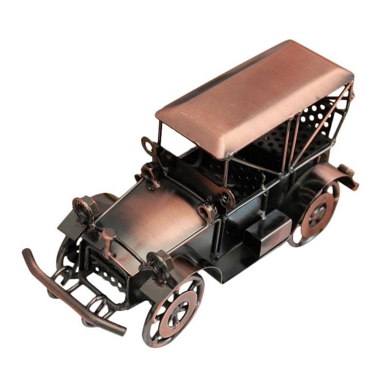 Amazing Us 14 21 30 Off Retro Red Copper Iron Car Art Classical Vehicle Model Home Office Desktop Decoration Metal Cars Sculpture Crafts In Figurines Download Free Architecture Designs Scobabritishbridgeorg