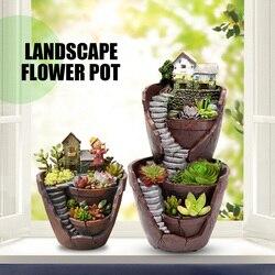 Sky Garden Micro Landscape Flower Pot Planter Bonsai Succulents Plants Garden Pots for Office Home Decoration Craft Ornaments