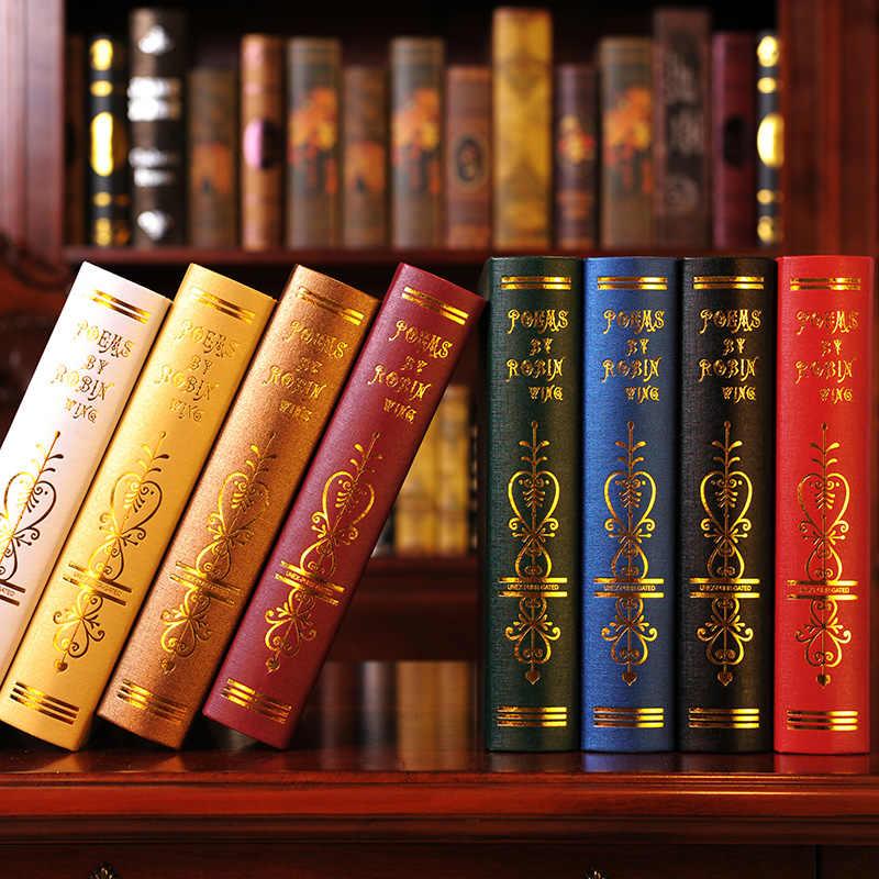 Европейская ретро Книга-реквизит мебель поддельные книги орнамент гостиной мебель креативные предметы интерьера украшения ремесла