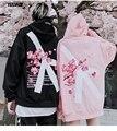 2018 Winter modis Cherry Blossom Print Hoodie Streetwear Hip Hop oversize Women Men Unisex Cotton Sweatshirts Retro Hoody