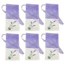6 шт пакетиков с цветочным принтом, портативные пустые Лавандовые духи-саше, сумка для семян A30