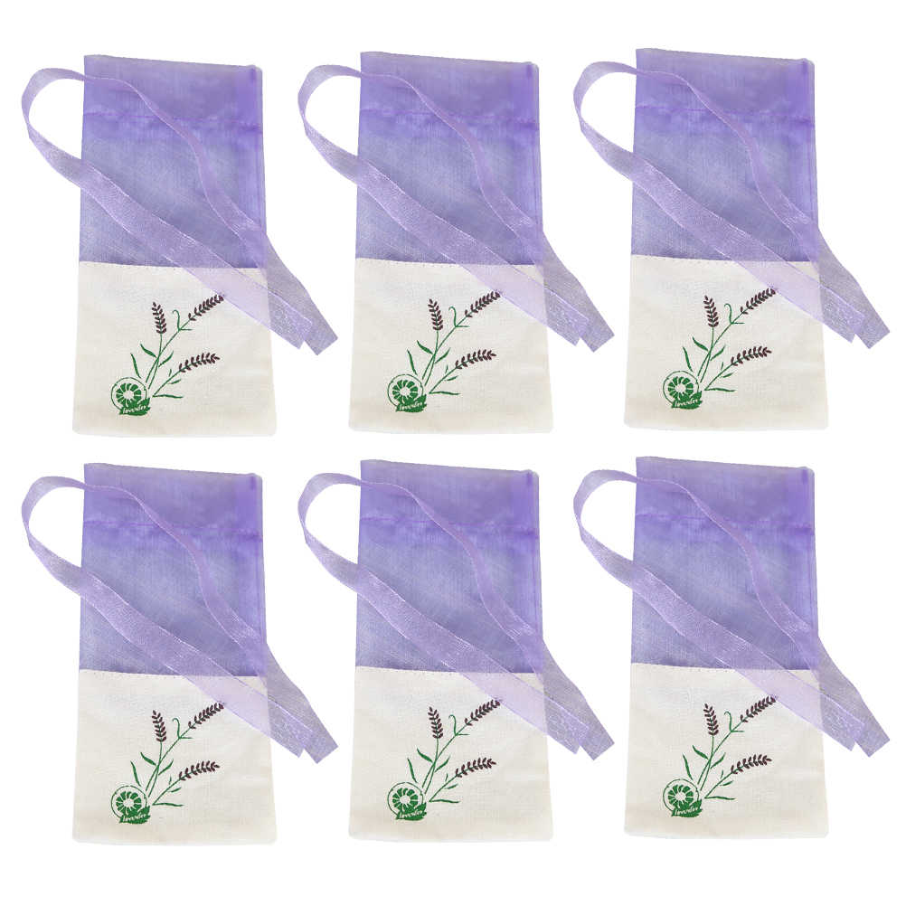 6pcs Sachets Flower Printing Portable Empty Lavender Fragrance Sachet Bag for Seeds A30