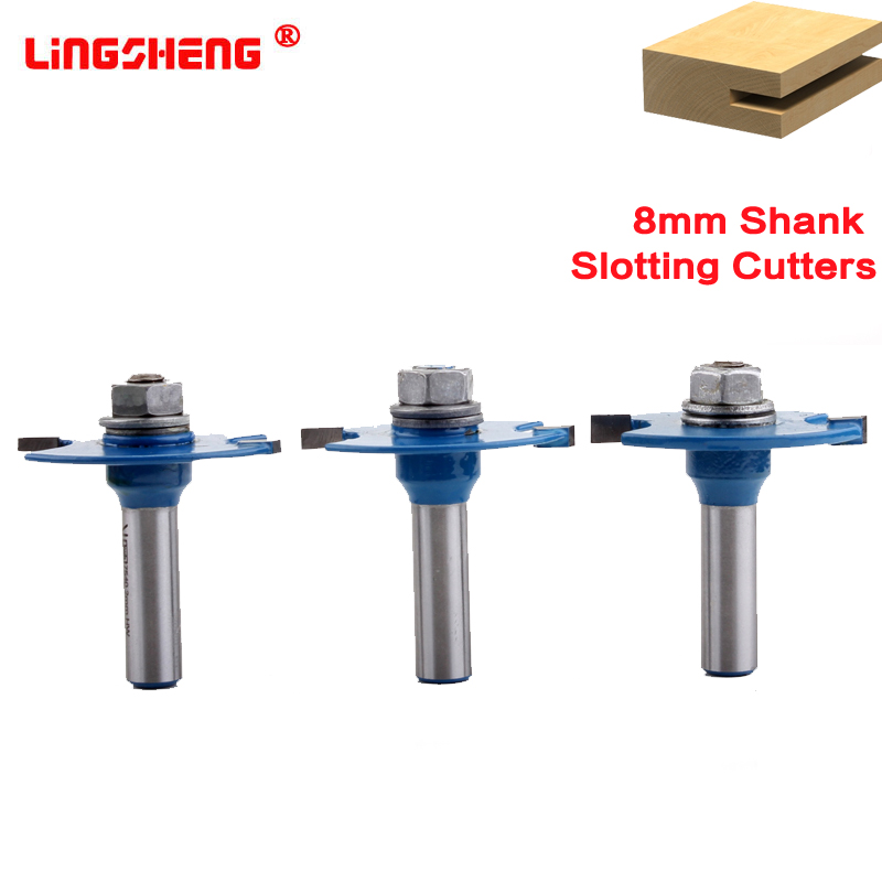 8mm Shank T Type Biscuit Joint Slot Cutter Jointing/Slotting Router Bit 3mm 4mm Height Cutter Wood Working8mm Shank T Type Biscuit Joint Slot Cutter Jointing/Slotting Router Bit 3mm 4mm Height Cutter Wood Working