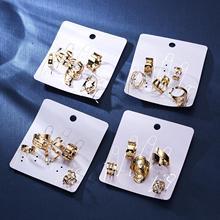 5 Pcs/ Set Classic Gold Colour V Chevron Rings Geometrical Irregular Ring Lady Charm Costume Jewelry Accessories Midi