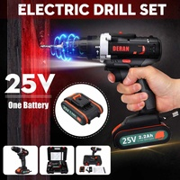 25V 4000amh Rechargeable Electric Screwdriver Drill Impact wrench with 1/2 Battery Power Tools set
