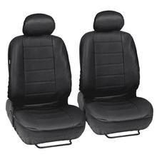 Summer Car Seat Cover 9PCS/Set Black Artificial PU Leather Anti-dirt Breathable Massage Waist Cushion For Four Seasons With Hook