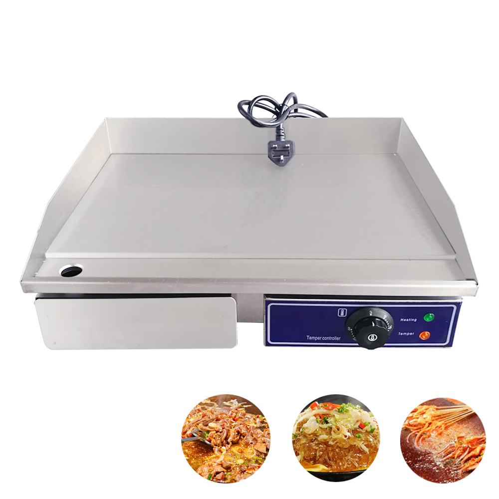 Commercial Electric Griddle 3000W Flat Pan Griddles Electric Flat Griddle 220V Stainless Steel Restaurant Frying Equipment
