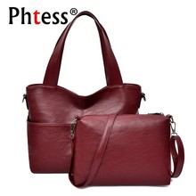 2pc/s Purses And Handbags Ladies Women Leather Handbags High Quality 2019 Sac A Main Female Large Capacity Tote Bag For Girls