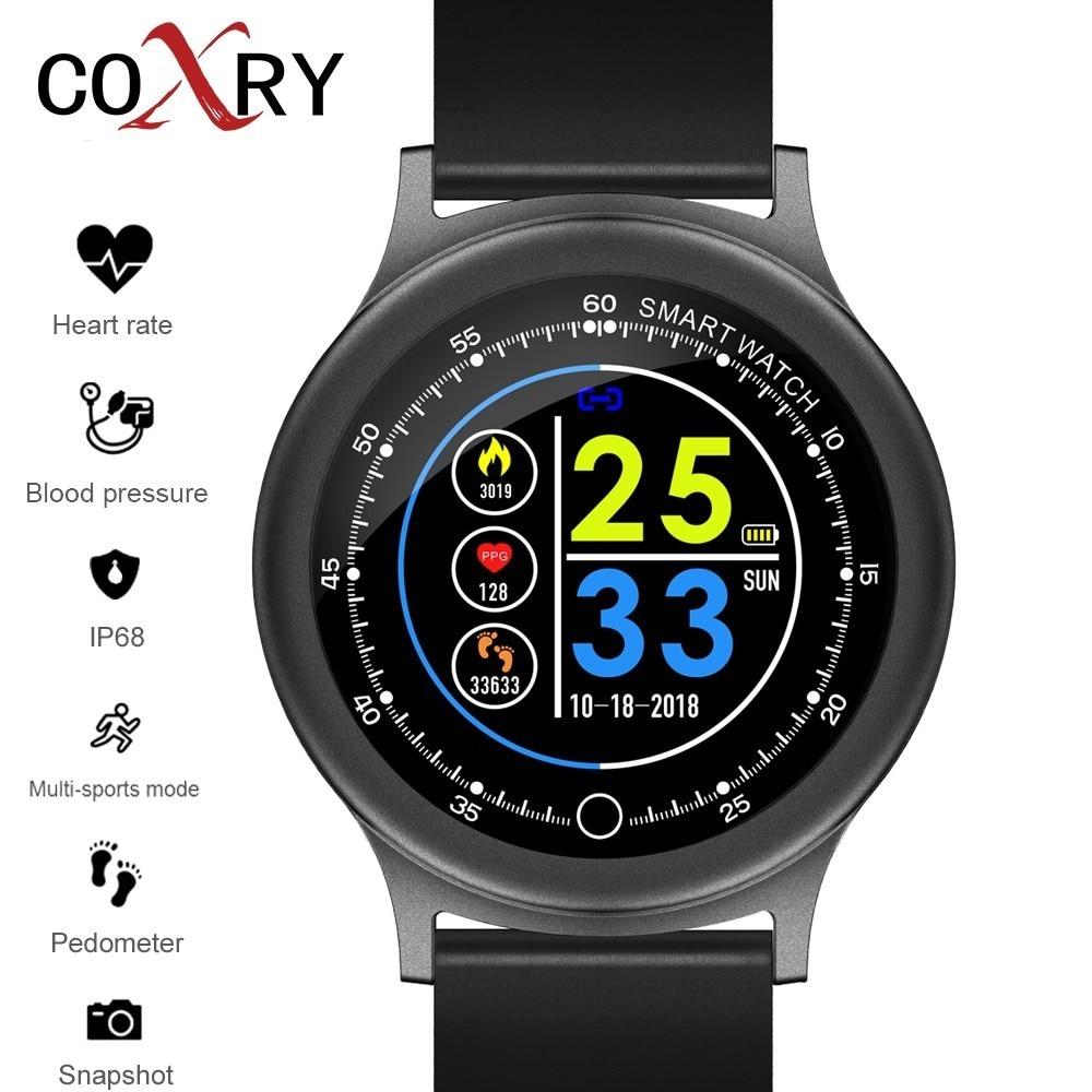 COXRY Smart Watches Women Pedometer Men Watch Sport Sleep Clock Heart Rate Fitness Watch Blood Pressure