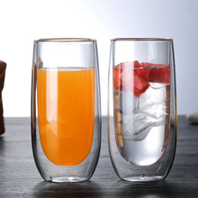 Bodum egg shape Double Walled Glass Design cold drin Nespresso Coffee Cup Anti-hot Milk Cereal taza Beer Glasses Verre Teacup