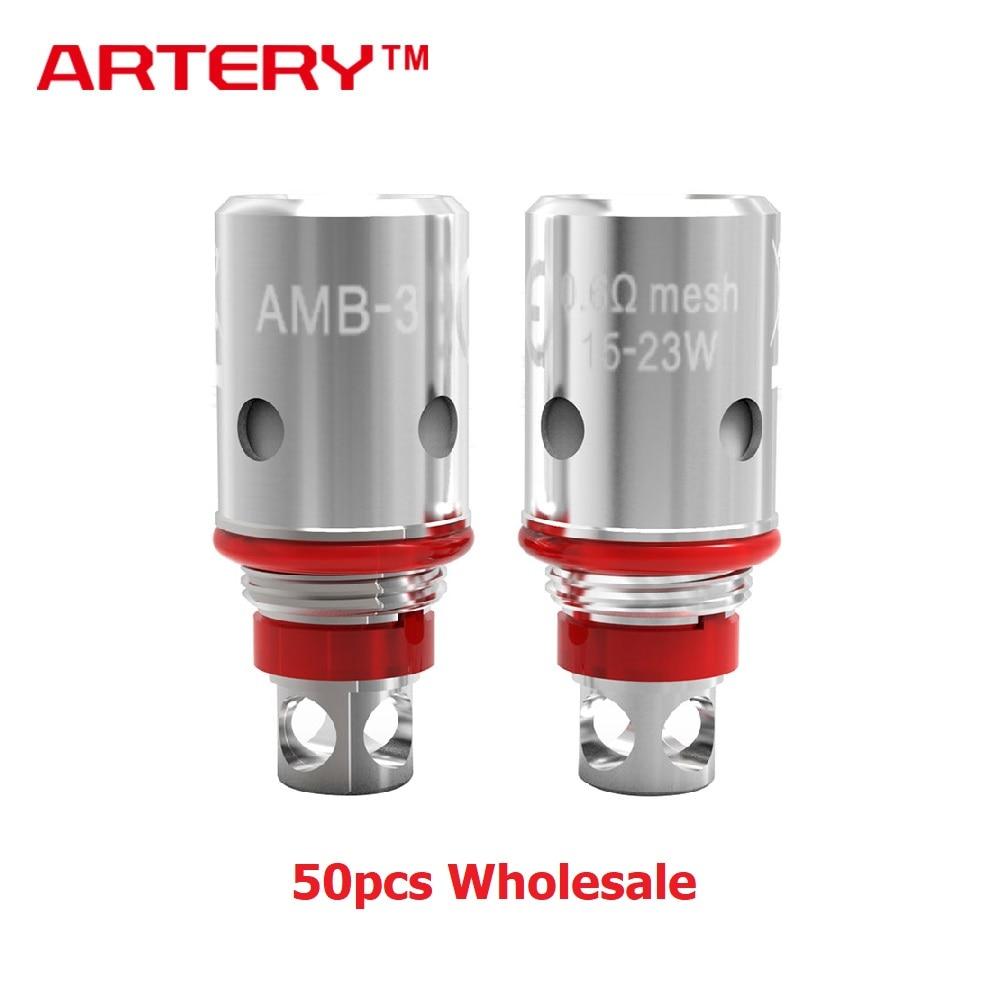 50 pcs en gros artère PAL II bobine ensemble 0.6ohm/1.0ohm/1.2ohm e-cig tête de bobine pour artère PAL 2 Pod Kit & PAL II cosse de remplacement